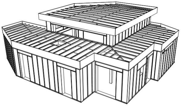 détails blocs modulaires construction bois préfabriquées