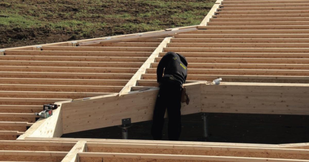 mise en oeuvre dalle bois construction modulaires préfabriquées