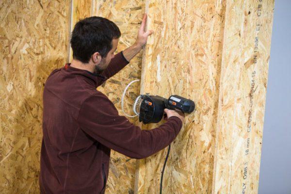 assemblage blocs modulaires construction bois écologique maison passive