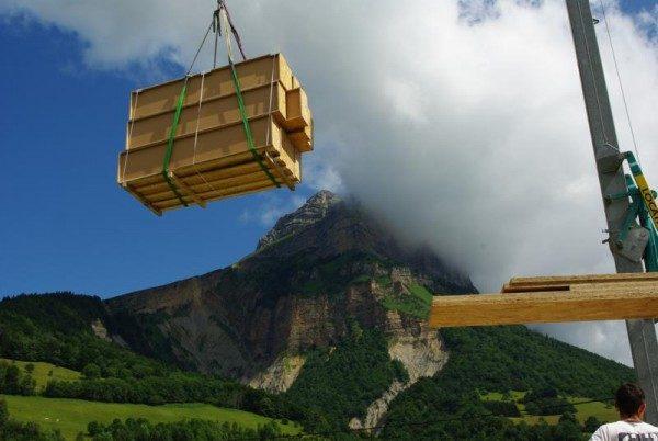 livraison blocs modulaires construction bois écologique