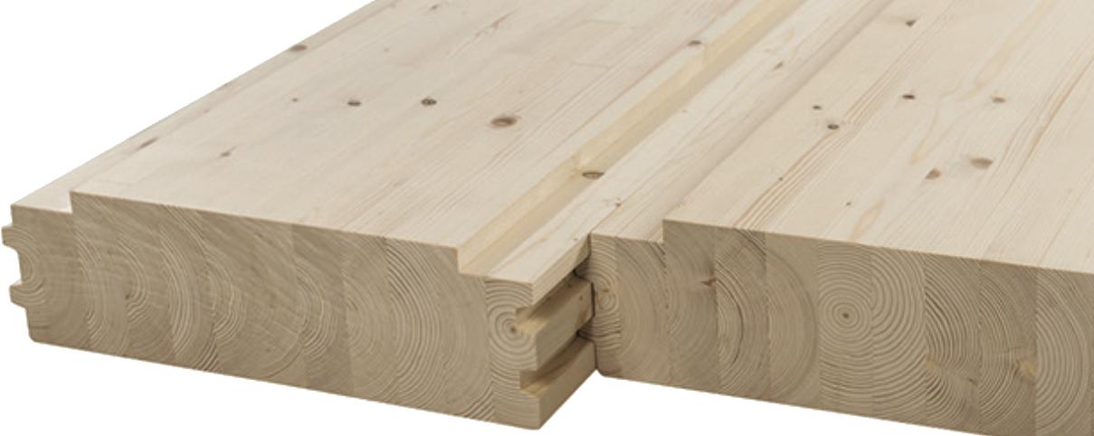 plancher lamellé collé bois sous face apparente