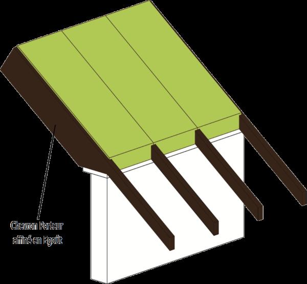 détails toit pente bois