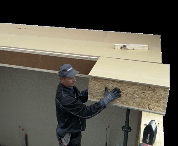 pose toit plat blocs modulaires blokiwood
