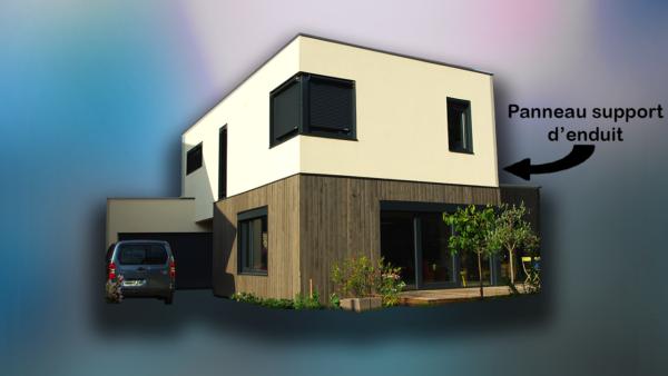 panneau support d'enduit bloc modulaires constructions ossature bois