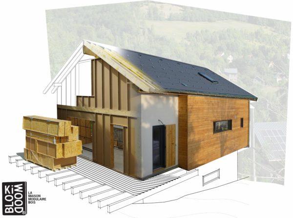blocs modulaires en bois ossature bois isolés matériaux innovants