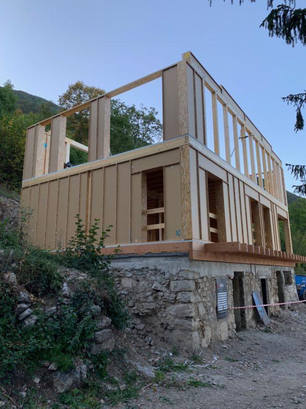 construction bois en blocs modulaires préfabriquées