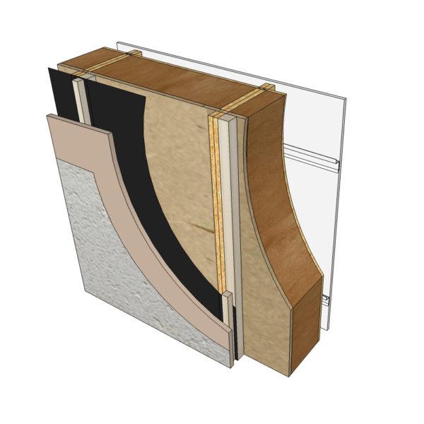 parement enduit minéral blocs modulaires constructions bois