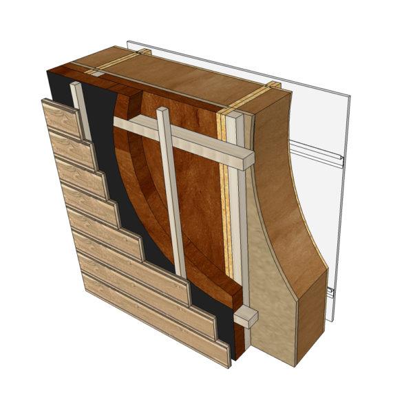 isolation complémentaire bardage bois blocs modulaires construction bois