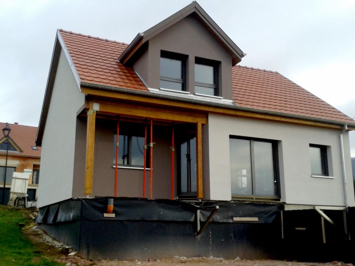 maison passive Alsace construite en blocs modulaires ossature bois écologique