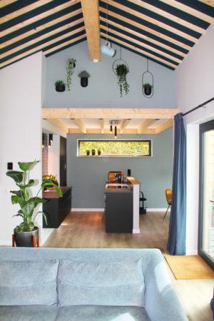 Intérieur maison ossature bois