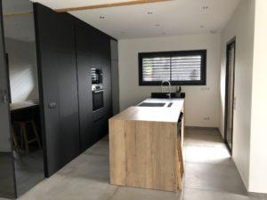Intérieur maison bois Isère