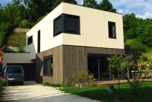 Maison moderne ossature bois Blokiwood