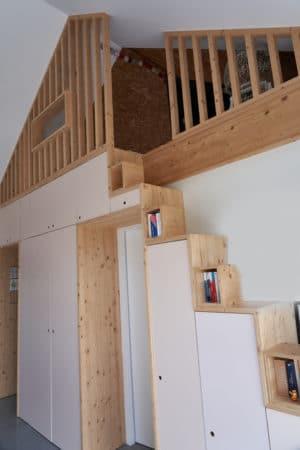 Intérieur maison ossature bois Savoie