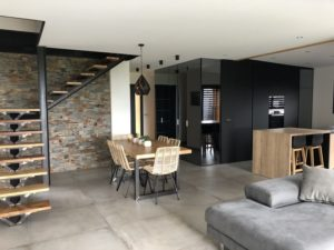 Intérieur maison bois Blokiwood