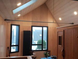 intérieur maison bois vannes